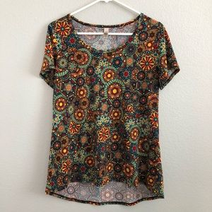 LulaRoe Patterned Floral Classic T
